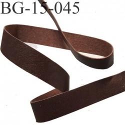 Destockage galon ruban couleur marron façon cuir  largeur 15 mm souple et doux très agréable au touché prix au mètre