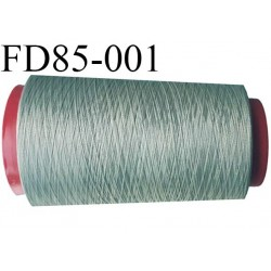 Destockage Cone de fil mousse  polyester texturé fil n° 165 couleur gris vert kaki clair longueur 2000 mètres bobiné en France