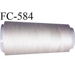 Cone de fil polyester fil n°80 couleur gris mastic longueur du cone 2000 mètres bobiné en France