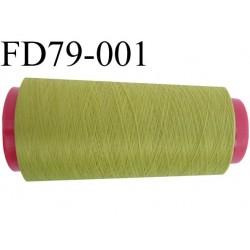 Destockage Cone de fil mousse  polyester  fil n° 165 couleur vert  longueur 2000 mètres bobiné en France