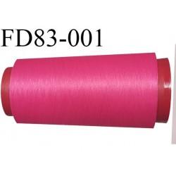 Destockage Cone de fil mousse  polyester  fil n° 165 couleur fushia  longueur 2000 mètres bobiné en France