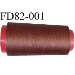 Destockage Cone de fil mousse  polyester  fil n° 165 couleur marron  longueur 2000 mètres bobiné en France