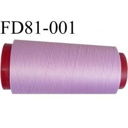 Destockage Cone de fil mousse  polyester  fil n° 165 couleur lilas violine  longueur 2000 mètres bobiné en France