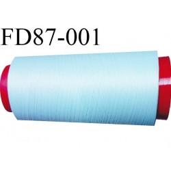 Destockage Cone de fil mousse  polyester  fil n° 165 couleur bleu ciel  longueur 2000 mètres bobiné en France