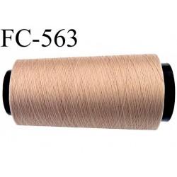 Cone de fil mousse polyamide fil n°100 couleur chair  longueur du cone 2000 mètres bobiné en France