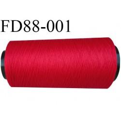 Destockage cone de fil mousse polyamide fil n°120 couleur rouge longueur du cone 2000 mètres bobiné en France