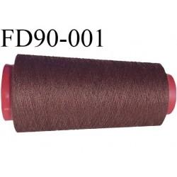 Destockage Cone de fil  polyester  fil n°35 couleur marron clair longueur du cone 1000 mètres bobiné en France