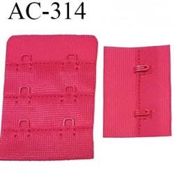 attache rallonge extension de soutien gorge 2 crochets 3 hauteur largeur 38 mm couleur groseille