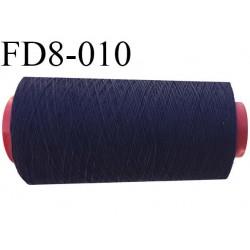 Destockage Cone de fil  polyester 40% et coton 60%   fil n°30 couleur bleu marine longueur du cone 900 mètres bobiné en France