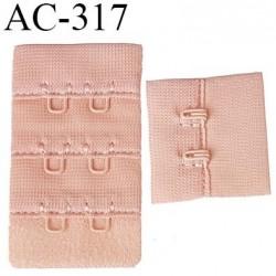 attache rallonge extension de soutien gorge 2 crochets 3 hauteur largeur 31 mm couleur chair rosé