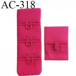 attache rallonge extension de soutien gorge 1 crochets 3 hauteur largeur 20 mm couleur groseille