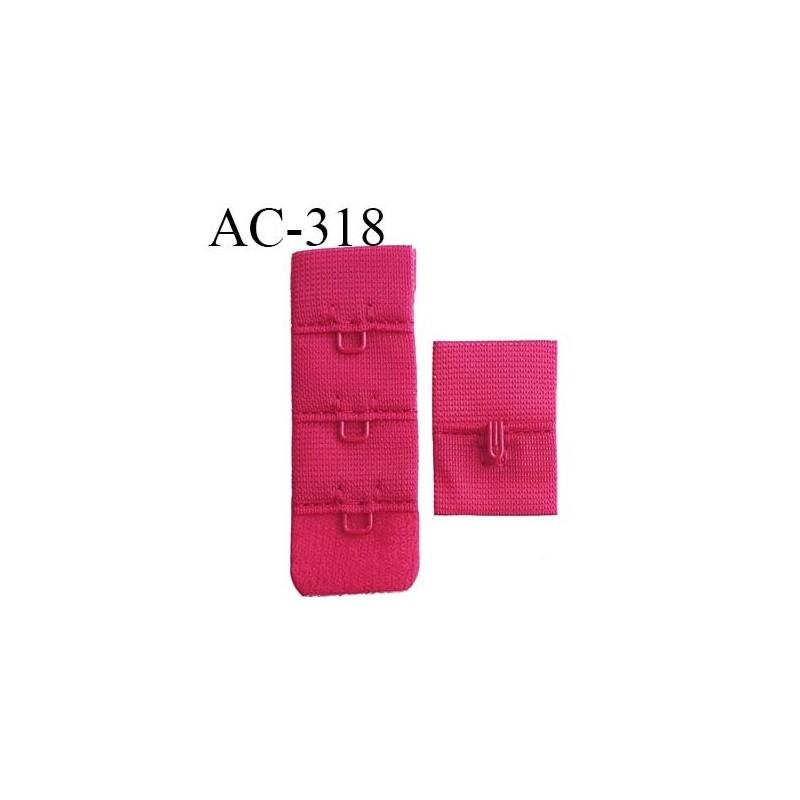be10b8095def1 attache rallonge extension de soutien gorge 1 crochets 3 hauteur largeur 20  mm couleur groseille - mercerie-extra