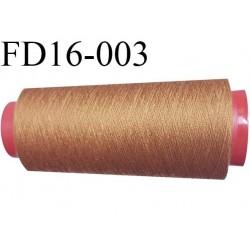 Destockage CONE de fil polyester fil n° 50 couleur ocre foncé  longueur de 1000 mètres bobiné en France