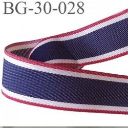 galon ganse ruban  couleur bleu blanc rouge synthétique très  très solide largeur 30 mm prix au mètre