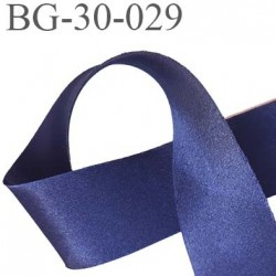 biais galon ruban satin brillant couleur bleu marine largeur 30 mm prix au mètre