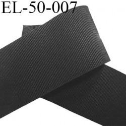 élastique plat  gros grain belle qualité souple couleur noir largeur 50 mm souple  prix au mètre