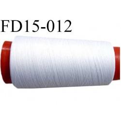 Destockage Cone de fil mousse polyester  fil n° 90 couleur blanc cone de 1000 mètres bobiné en France