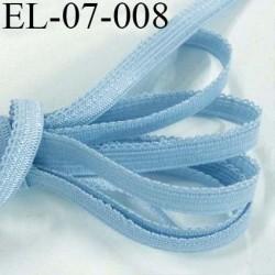 élastique picot plat boucles dentelle couleur bleu lumineux  largeur 7 mm prix au mètre