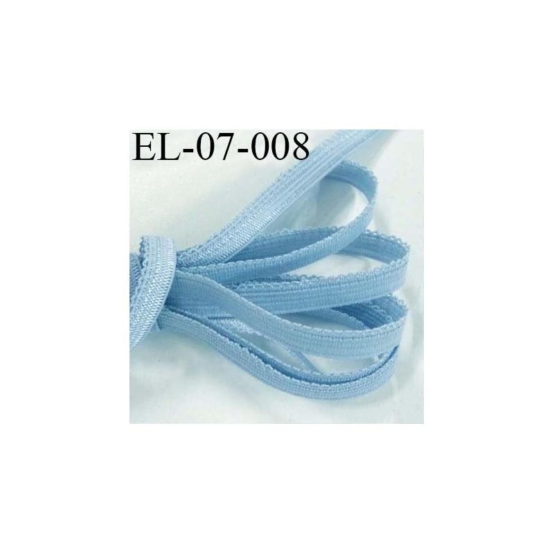 lastique picot plat boucles dentelle couleur bleu lumineux largeur 7 mm prix au m tre. Black Bedroom Furniture Sets. Home Design Ideas