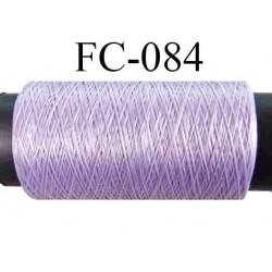 bobine de fil mousse polyamide couleur violet lilas clair longueur 500 mètres largeur de bobine 5.5 cm fabriqué en France
