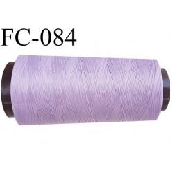 Cone de fil mousse polyamide fil n° 100/2 couleur violet lilas parme clair longueur 5000 mètres bobiné en France