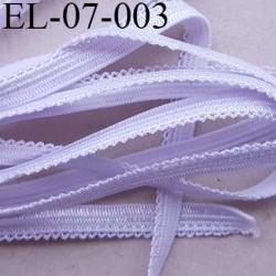 élastique picot plat boucles dentelle couleur parme violine lilas largeur 7 mm prix au mètre