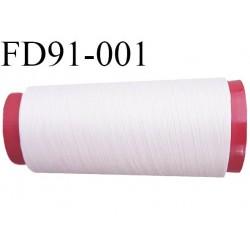 Destockage cone de fil mousse polyamide fil n°180 couleur blanc cassé écru longueur du cone 1000 mètres bobiné en France