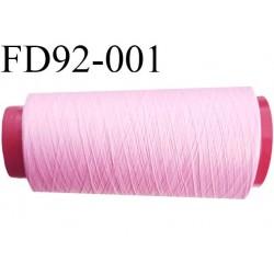 Destockage Cone de fil mousse  polyester  fil n° 165 couleur rose malabar  longueur 2000 mètres bobiné en France
