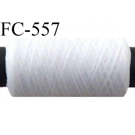 Bobine de fil mousse polyamide fil n° 100/2 couleur blanc  longueur de 500 mètres bobiné en France