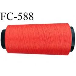 Cone de fil  polyester  fil n° 120 couleur corail cone de 1000 mètres bobiné en France