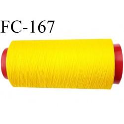 Cone 1000 mètres de fil mousse polyamide fil n° 120 couleur jaune  bobiné en France
