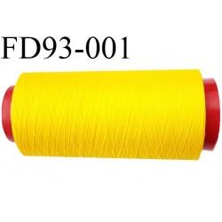 Destockage cone de fil mousse polyamide fil n°120 couleur jaune longueur du cone 2000 mètres bobiné en France