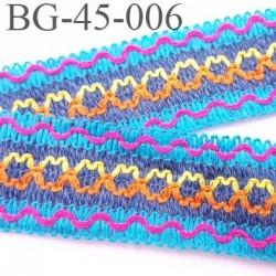 Ruban Galon ganse largeur 45 mm souple et doux couleur turquoise rose jaune orange bleu prix au mètre