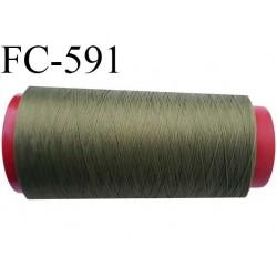 Cone 5000 mètres de fil mousse  polyester fil n°160 couleur vert  bobiné en France