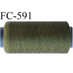Bobine 500 mètres de fil mousse  polyester fil n°160 couleur vert  bobiné en France