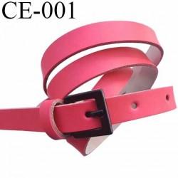 ceinture 105 cm façon cuir haut de gamme souple très agréable au touché couleur corail largeur 14 mm épaisseur 2 mm