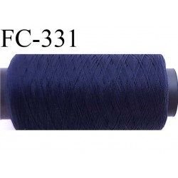 Bobine 500 mètres de fil mousse polyamide fil n° 120 couleur bleu marine foncé longueur du cone  bobiné en France
