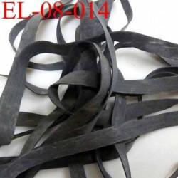 Elastique caoutchouc laminette naturel largeur 8 mm x 0.5 mm  résistantes couleur noir anthracite prix au mètre