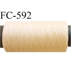 Bobine 500 mètres de fil mousse polyamide fil n° 100/2 couleur coquille d'oeuf clair longueur 500 mètres bobiné en France