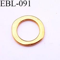Anneau ovalisé en métal couleur or diamètre extérieur 20 mm diamètre intérieur 14 mm