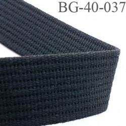 Sangle 100 % coton  couleur noir largeur 40 mm  épaisseur 3 mm très très solide
