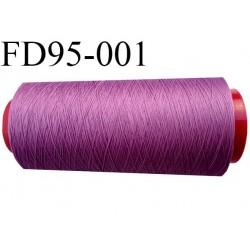 Destockage cone 2000 mètres de fil mousse polyamide fil n°120 couleur lilas pourpre bobiné en France