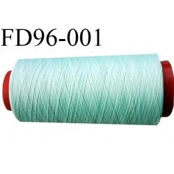 Destockage cone 2000 mètres de fil mousse polyamide fil n°120 couleur vert lagon bobiné en France