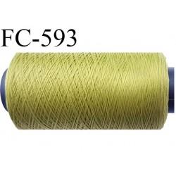 bobine 500 mètres de fil mousse polyamide fil n° 100/2 couleur  vert longueur 500 mètres bobiné en France