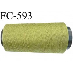 Cone 1000 mètres de fil mousse polyamide fil n° 100/2 couleur  vert longueur 1000 mètres bobiné en France