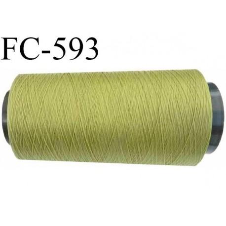 Cone 2000 mètres de fil mousse polyamide fil n° 100/2 couleur  vert longueur 2000 mètres bobiné en France