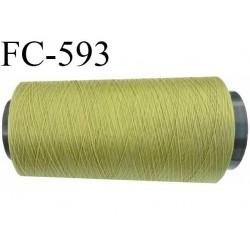 Cone 5000 mètres de fil mousse polyamide fil n° 100/2 couleur  vert longueur 5000 mètres bobiné en France