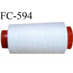 CONE de fil polyester fil n° 150 couleur blanc  longueur de 2000 mètres bobiné en France