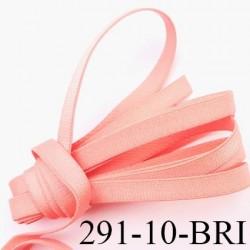 Elastique plat largeur 10 mm couleur rose camélia brillant superbe  très belle qualité haut de gamme prix au mètre