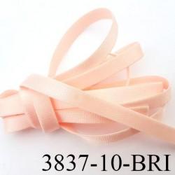 Elastique plat largeur 10 mm couleur rose pétale brillant superbe  très belle qualité haut de gamme prix au mètre